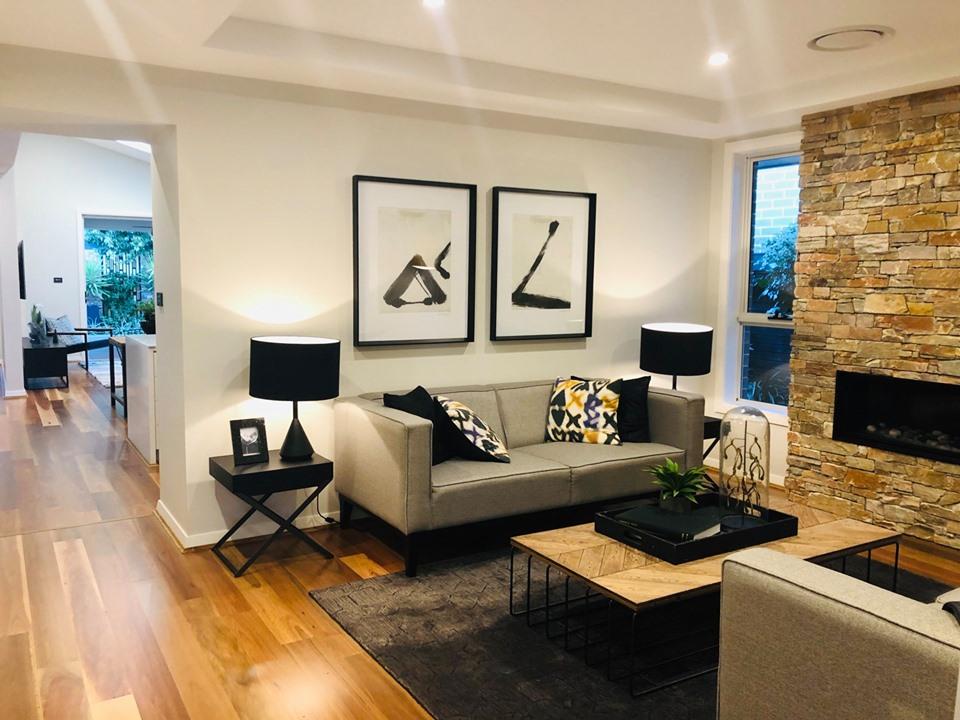 Mẫu thiết kế phòng khách tuyệt đẹp khi định cư ở úc