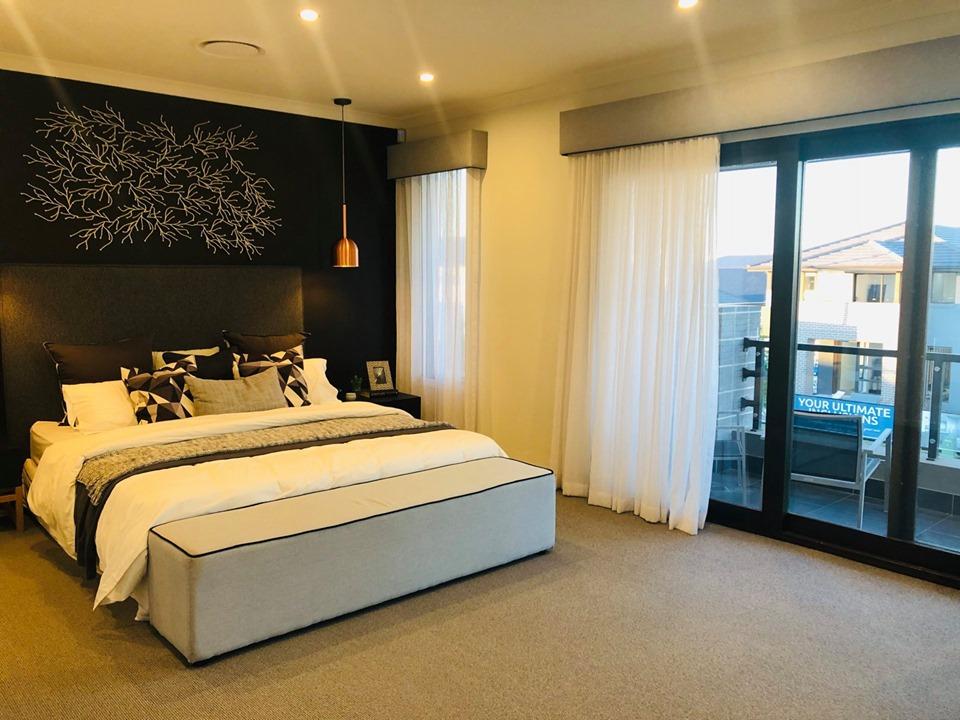 Không gian phòng ngủ chính của biệt thựSydney Úc