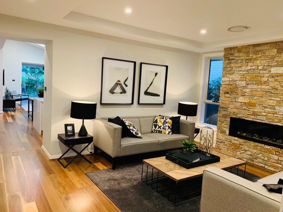 Không gian phòng khách của biệt thựSydney Úc