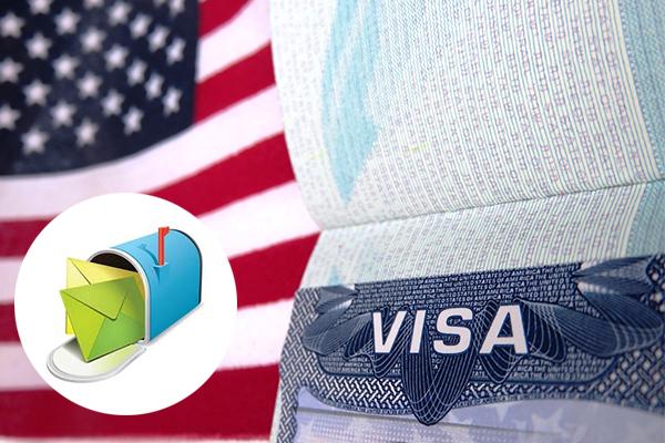 visa Mỹ gửi về nhà bằng hình thức bưu điện