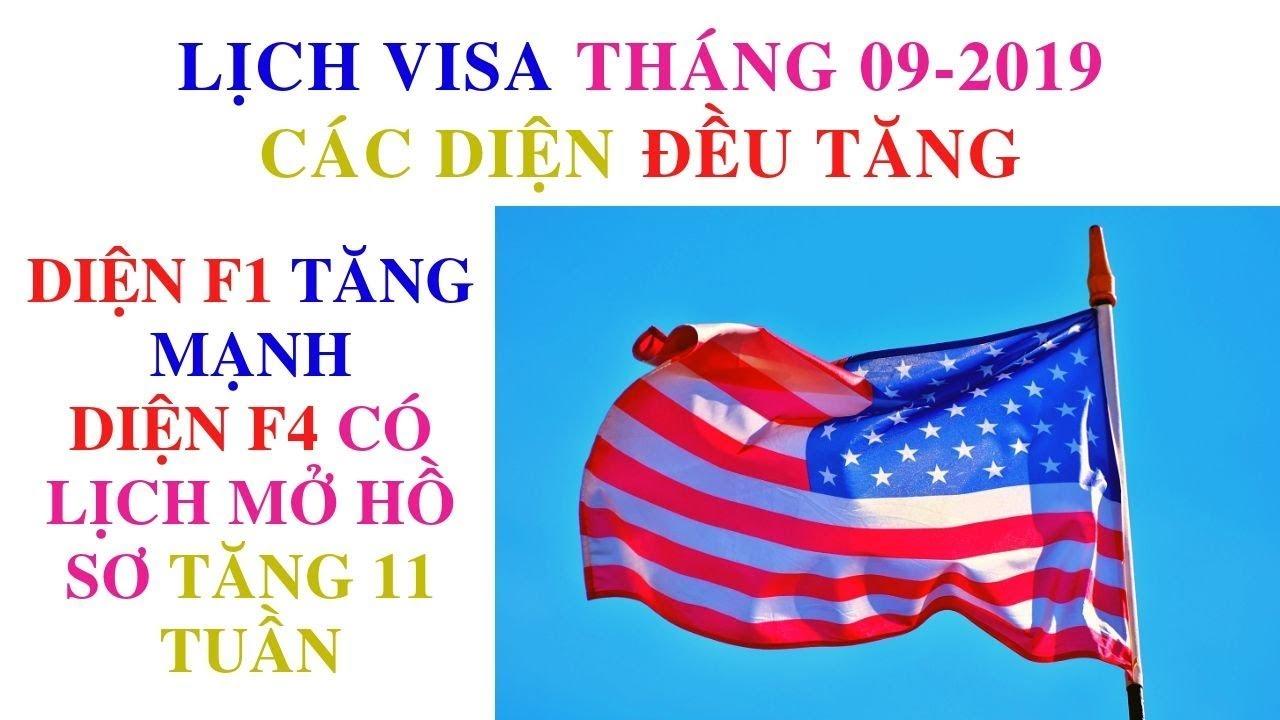 Lịch visa định cư Mỹ tháng 09/ 2019