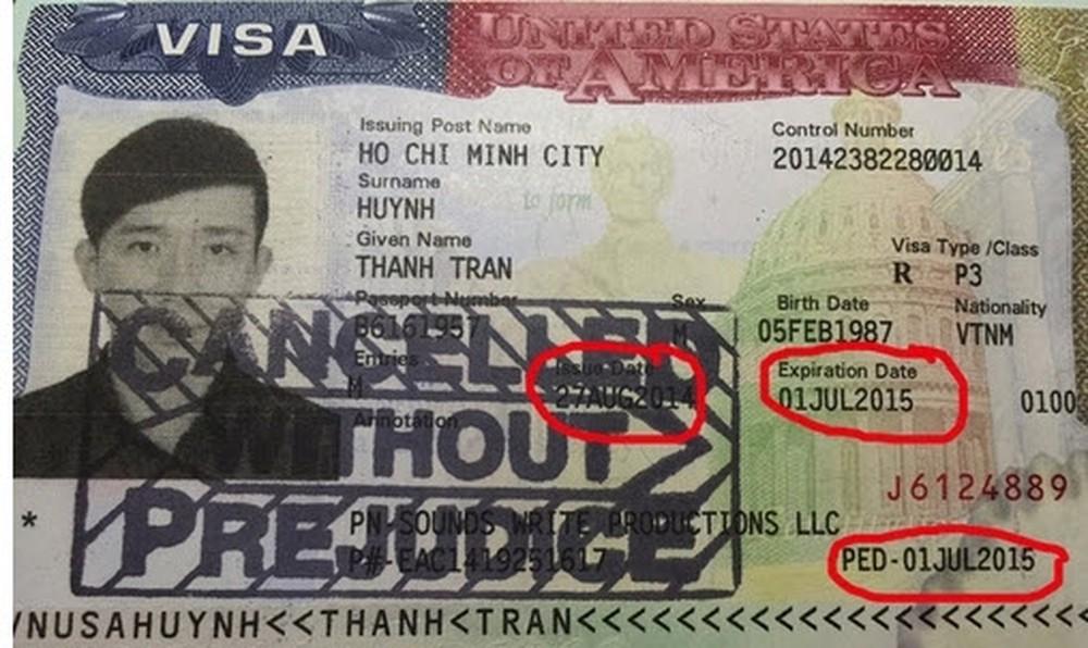 Visa mỹ bị đóng dấu cancel