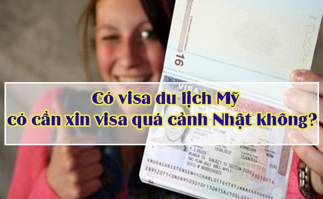 xin visa mỹ đi nhật